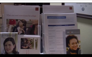 student loan brochures in the Ole Miss Office of Financial Aid